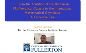 The Intrinsic Beauty of Mathematics: a talk by the outstanding writer and mathematician Bogdan Suceavă