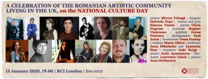 A Celebration of the Romanian Artistic Community in the UK on the National Culture Day (Panel and Exhibition)