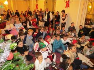Moș Crăciun în Belgrave Square