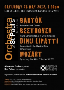 "Alexandra Dăriescu premiers Lipatti's ""Concertino"" with the Orchestra of St Paul's"