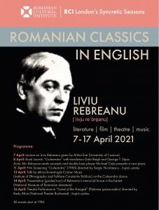 Romanian Classics in English: LIVIU REBREANU  - Talk by ethnochoreologist Cristian Mușa