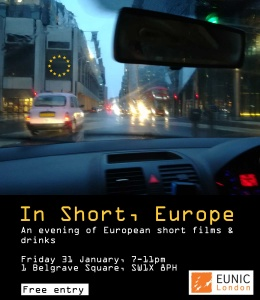 In Short, Europe: An evening of European short films and drinks